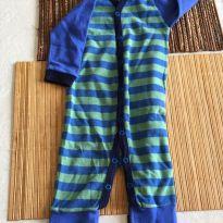 Macacão azul e verde - 3 a 6 meses - Babette Bebê