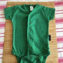Body verde musgo - 3 a 6 meses - BB Básico