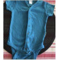 Body azul - 3 a 6 meses - BB Básico