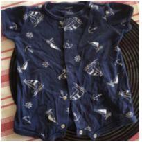 Body azul com barquinhos - 0 a 3 meses - Carter`s