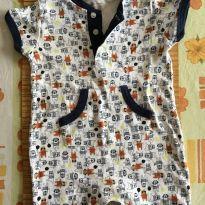 Macaquinho super colorido com bolsos - 9 a 12 meses - Teddy Boom