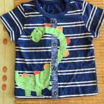 Camisa com desenho de Dinossauro - 6 a 9 meses - Alphabeto