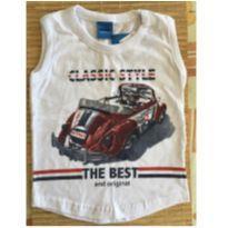 Camiseta regata Classic Style - 6 a 9 meses - wrk