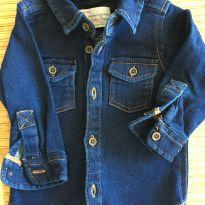 Jaqueta jeans com bolsos frontais - 3 a 6 meses - Baby Denim Collection