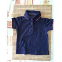 Camisa polo azul marinho escuro - 6 a 9 meses - Teddy Boom