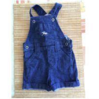 Macaquinho Jeans com cavalinho bordado - 6 a 9 meses - Lazy