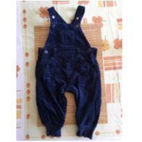 Macacão tipo jardineira, calça comprida e parte superior regulável - 9 a 12 meses - sem etiqueta