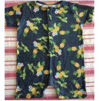 Macaquinho supercolorido com desenhos de araras, flores e abacaxis - 3 a 6 meses - Bento