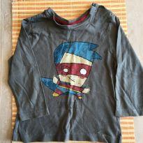 Camisa Supercute com desenho frontal - 6 a 9 meses - Zara Baby