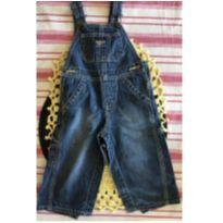 Macacão (jardineira) jeans batido - 1 ano - OshKosh