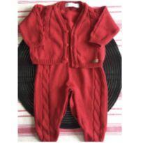Conjunto de Body tricotado calça e colete - 0 a 3 meses - Mundo Tiny