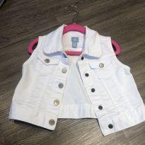 Colete Jeans Branco - 3 anos - Baby Gap