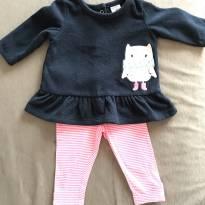 Conjunto legging com blusa em plush. Carters - 3 meses - Carter`s
