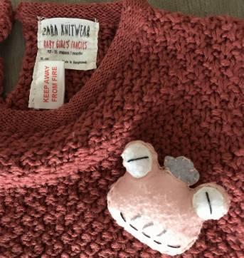 Tricô estiloso ZARA , com detalhe de sapinho - 12 a 18 meses - Zara