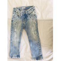 Calça jeans Destroyed maravilhosa - 2 anos - Mini Us