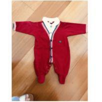 Lindo macacão vermelho RN. Perfeito para usar na maternidade - Recém Nascido - Anjos Chic