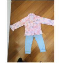 Conjunto Calça Skinny Zara e casaco Green - 3 anos - Green e Zara Baby