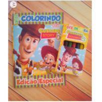 10 Kits Revistinha de Colorir Toy Story Com Giz de cera Personalizado -  - Não informada