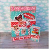 10 Kits Revistinha de Colorir Lol Com Giz de cera Personalizado -  - Não informada