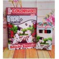10 Kits Revistinhas de Colorir 1001 Dálmatas Com Giz de cera Personalizado -  - Não informada