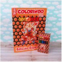 10 Kits Revistinha de Colorir Dragon Ball Com Giz de cera Personalizado -  - Não informada