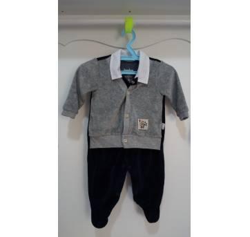 Macacão plush super estiloso - 0 a 3 meses - Keko Baby