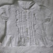 Blusinha branca tamanho  tamanho 1 feito na Índia - 1 ano - Importada