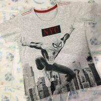 Camiseta cinza homem aranha tamanho 4 - 4 anos - Disney