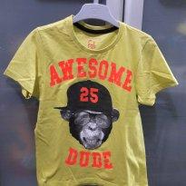 Camiseta macaco 4 - 4 anos - Não informada