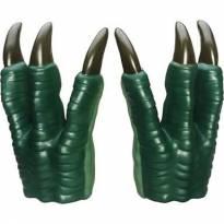 kit jurassic-luva jurassica garras dinossauro velociraptor +luva cabeça dino -  - Não informada