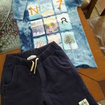 conjunto zara bermuda moleton e camiseta - 7 anos - Zara