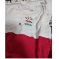 Saida maternidade com 2 peças algodão - 0 a 3 meses - Alô bebê