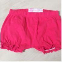 Shorts Rosa com Franzido - 9 a 12 meses - Baby Club