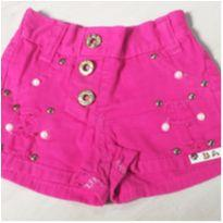 Short Rosa Fashion - 1 ano - Não informada