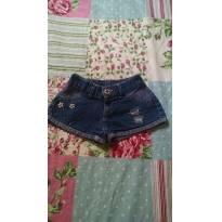 shorts Destroyer jeans bolsos traseiros apliques - 2 anos - Não informada