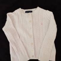 Casaco polo ralph Lauren tricot branco 3t - 2 anos - Ralph Lauren