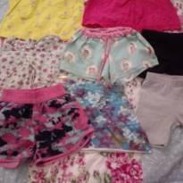 Lote verão menina 1 a 3 anos vestidos  shorts saia