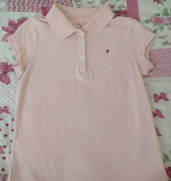 Camiseta tommy hilfiger 8/10 anos polo rosa - 8 anos - Tommy Hilfiger