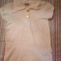 Camiseta polo branco off white - 4 anos - Não informada