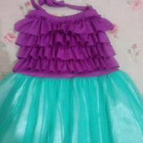 Vestido fantadia Ariel Princesa - 4 anos - Não informada