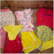 Lote de roupas menina 4 a 5 anos 9 peças - 4 anos - Não informada