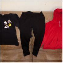 Lote de roupas menina 3 peças legging e moleton - 4 anos - Elian