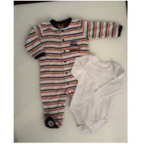 Macacão quentinho com pezinhos - 6 meses - Elian e Teddy Boom