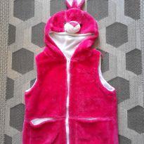 Colete rosa coelhinho - 10 anos - Não informada