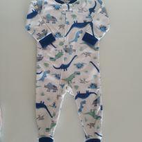 Macacão Carter`s Fleece Dino - 9 a 12 meses - Carter`s