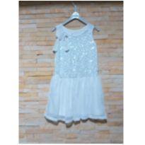 Vestido branco festa - 6 anos - Fuzarka