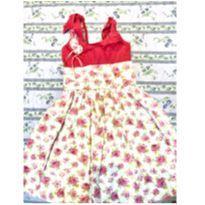 Vestido floral - 4 anos - Não informada
