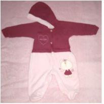 Macacão Bordô - 0 a 3 meses - Celui Baby