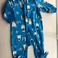 Macacão Azul boneco neve - 3 meses - Carter`s