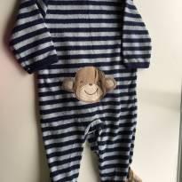 Macacão Listrado macaco - 3 meses - Carter`s